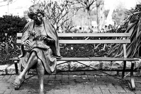 Lady on a park bench