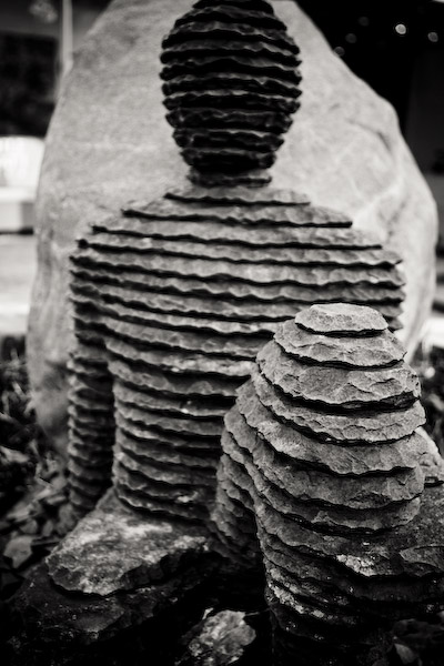 Stone Dude in black & white