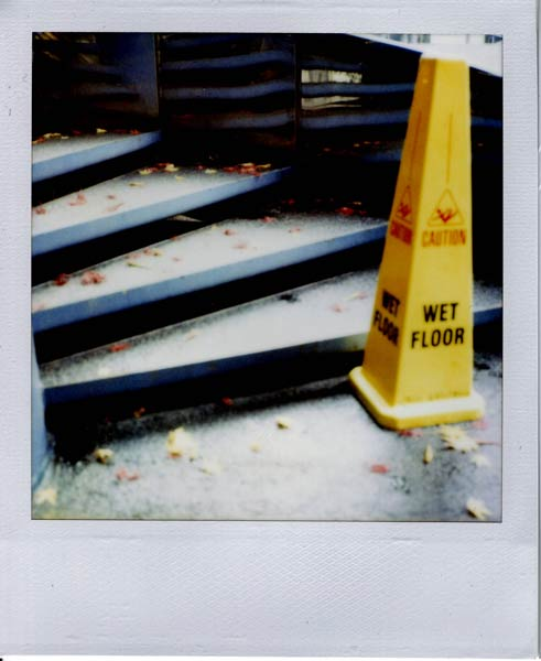 Wet Floor Polaroid!
