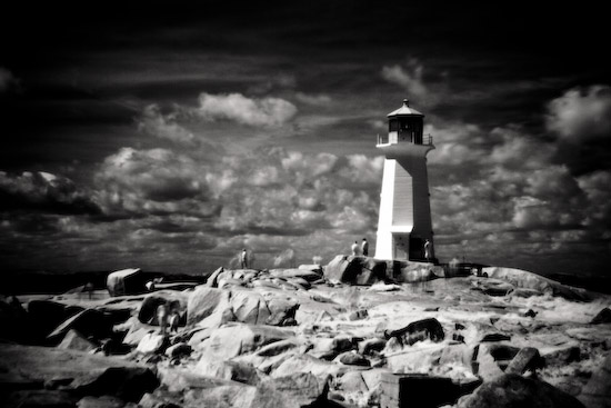 Infrared Photo of the Peggy Cove Lighthouse