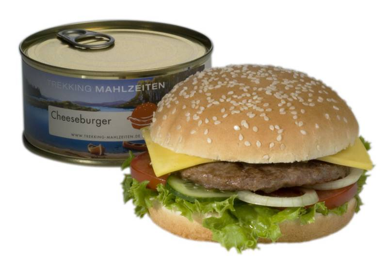 Cheeseburger in der Dose