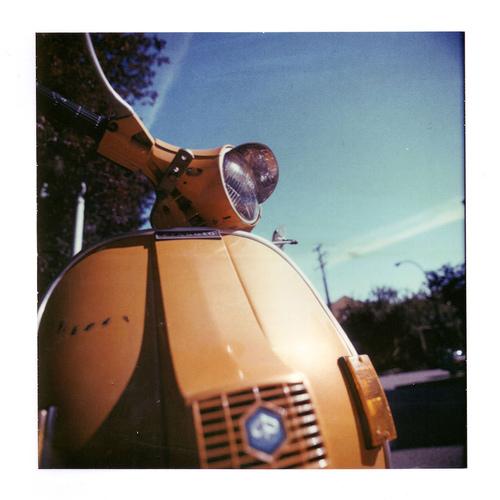 Polaroid of a Vespa