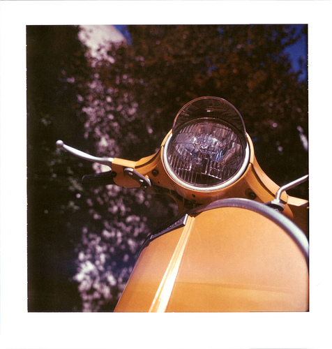 Polaroid of a Vespa