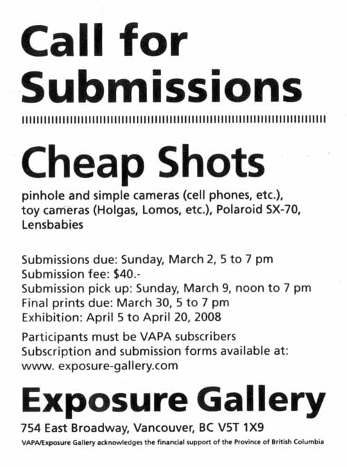 Exposure Gallery – Call For Submission