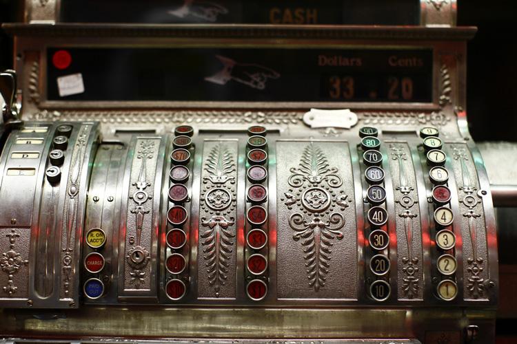 Cash Register In Antique Store