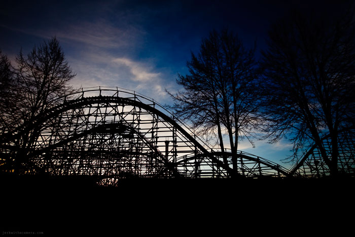 Rollarcoaster at Sunset