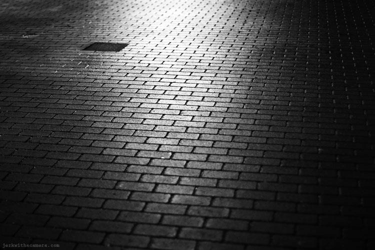 Side walk at night