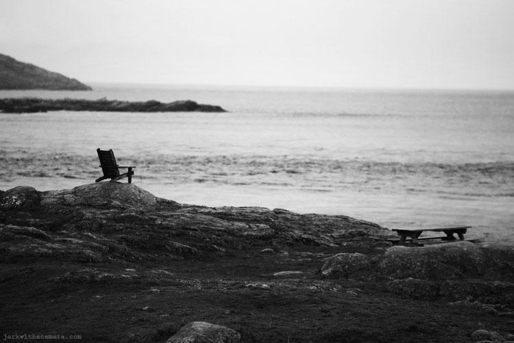 A chair on the beach