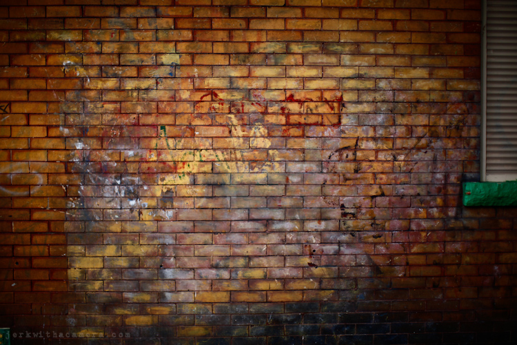 Commercial Drive - Brick wall