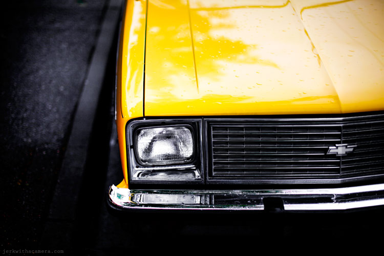 Commercial Drive Photowalk Yellow Chevy