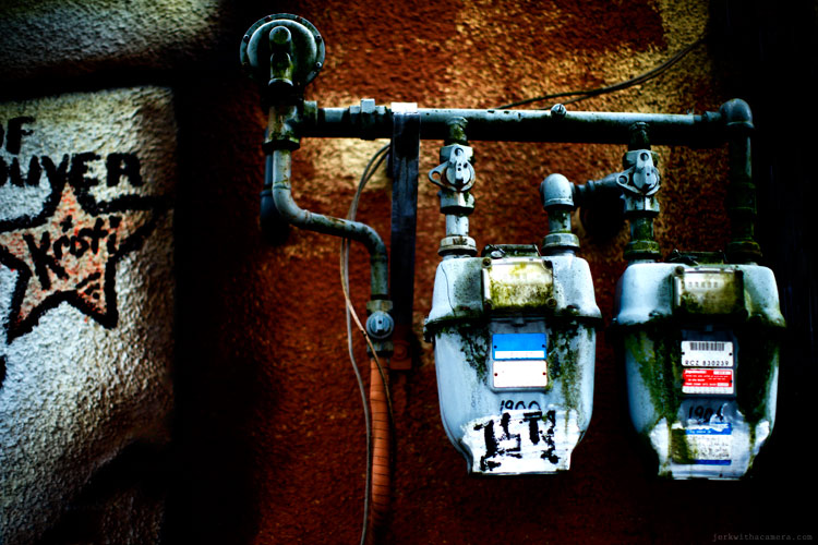 Commercial Drive Photowalk Back Alley Gas Meter