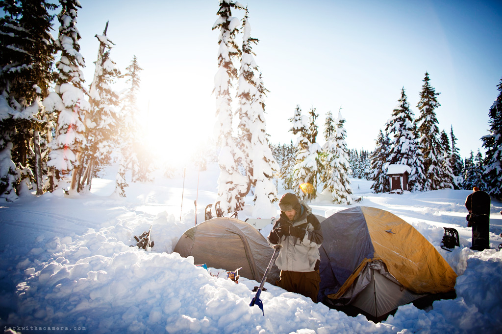 Snow Camping in Squamish