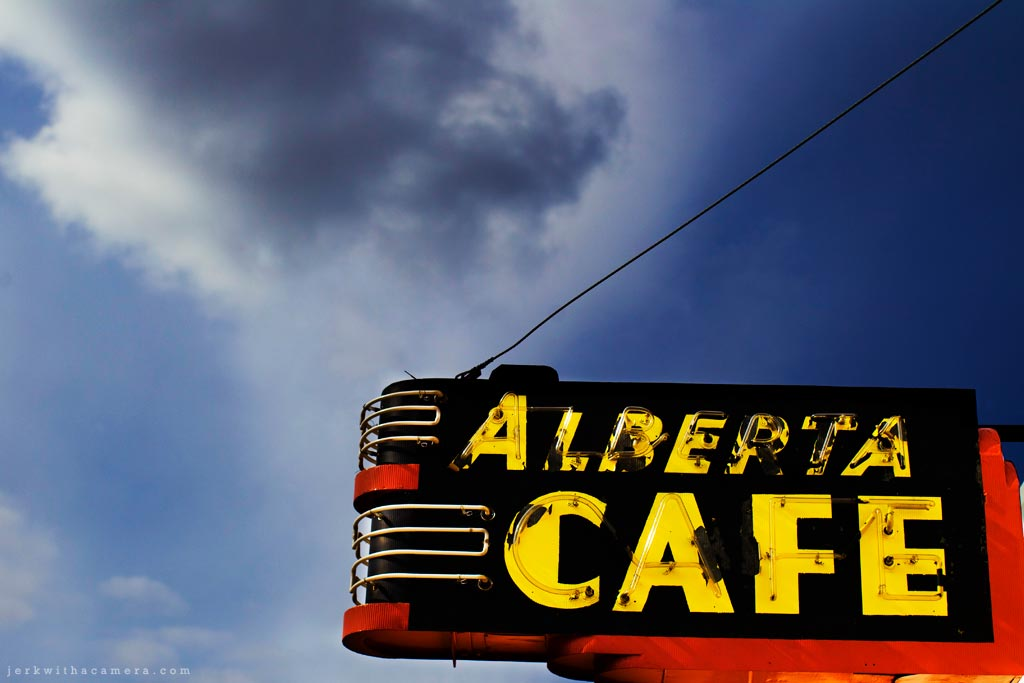 Alberta Cafe Neon Sign