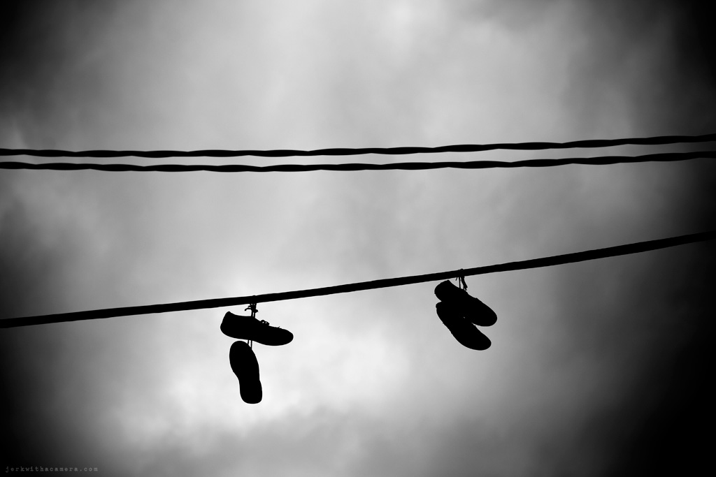 Shoes On A Power Line