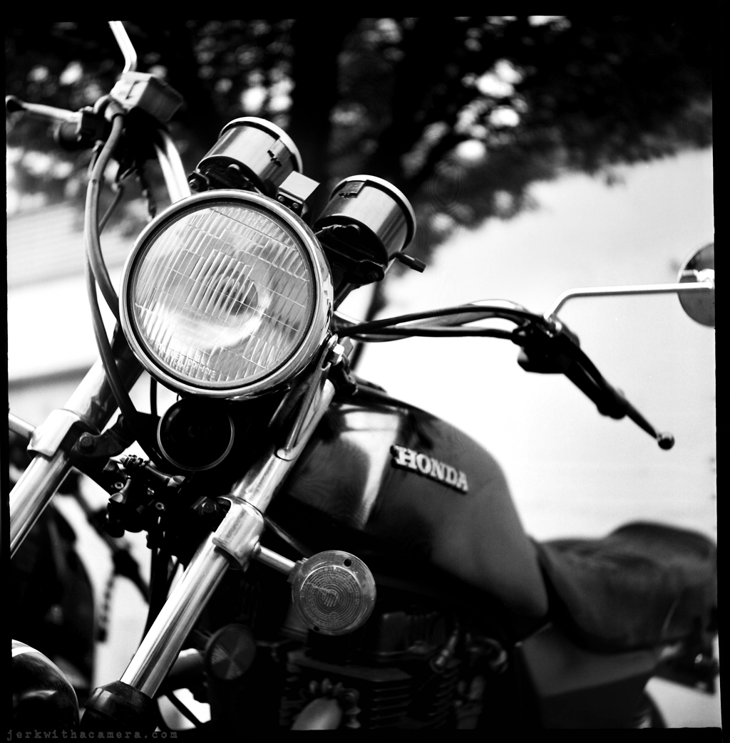 Yashica photo of a Honda CB400T Motorbike