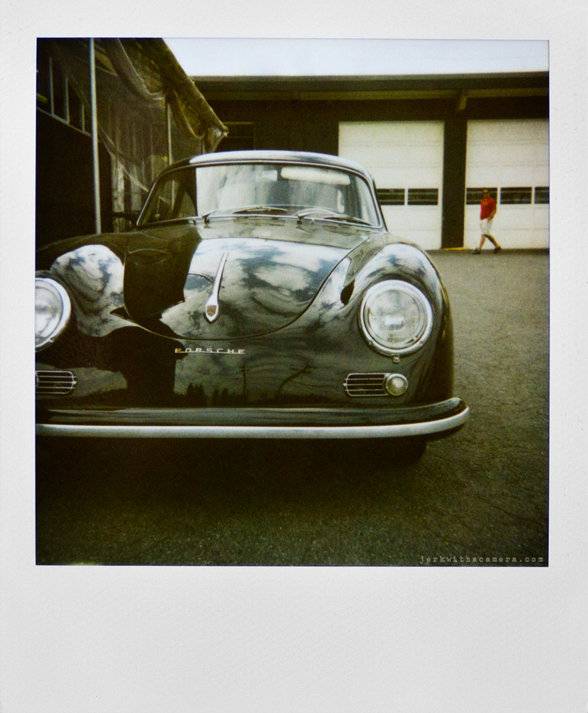 Polaroid of a Porsche