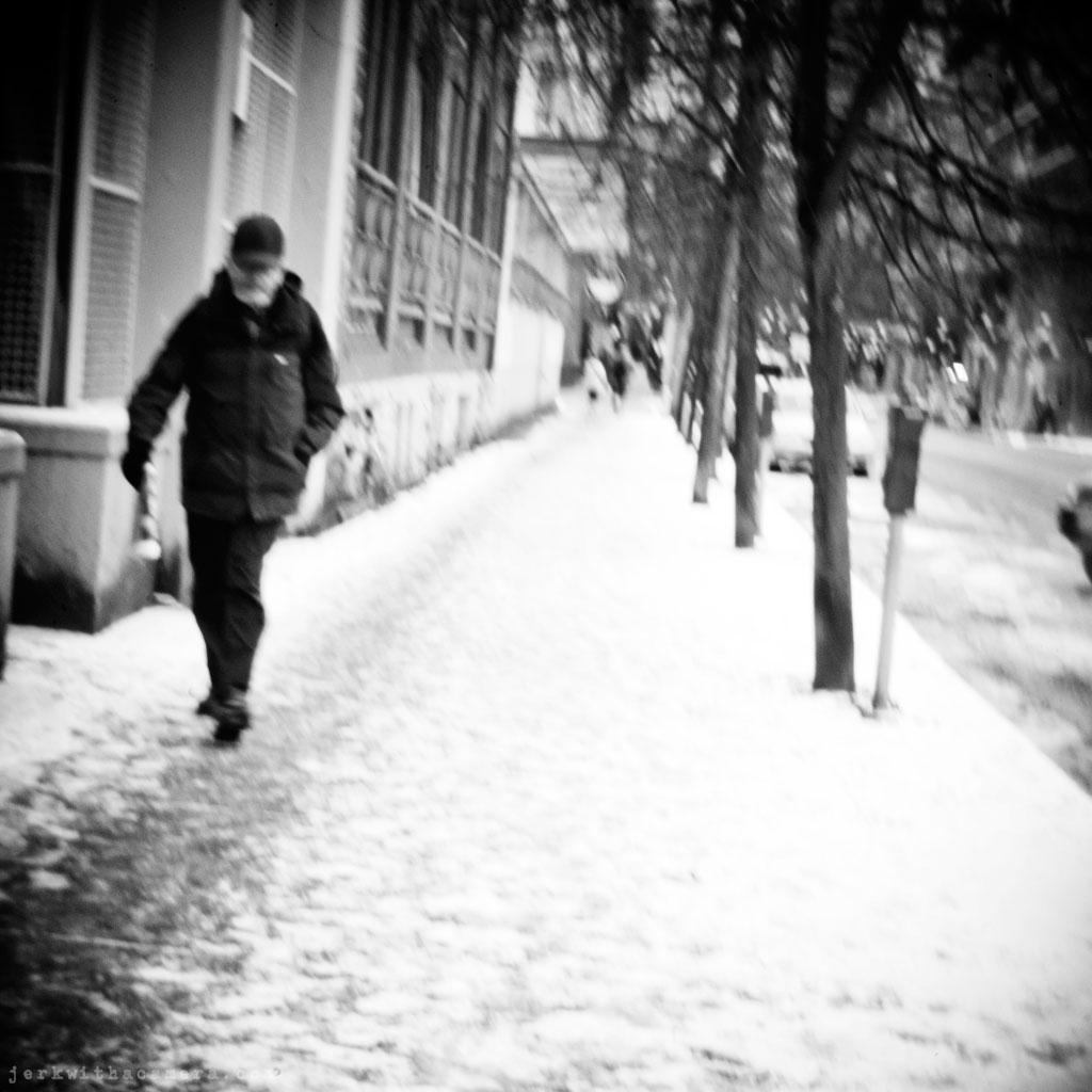 Sidewalk stalking - Digital Holga