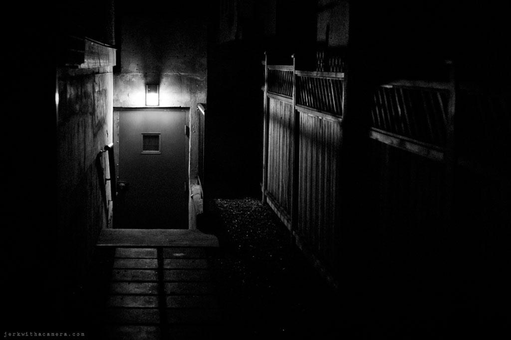 Doorways at night