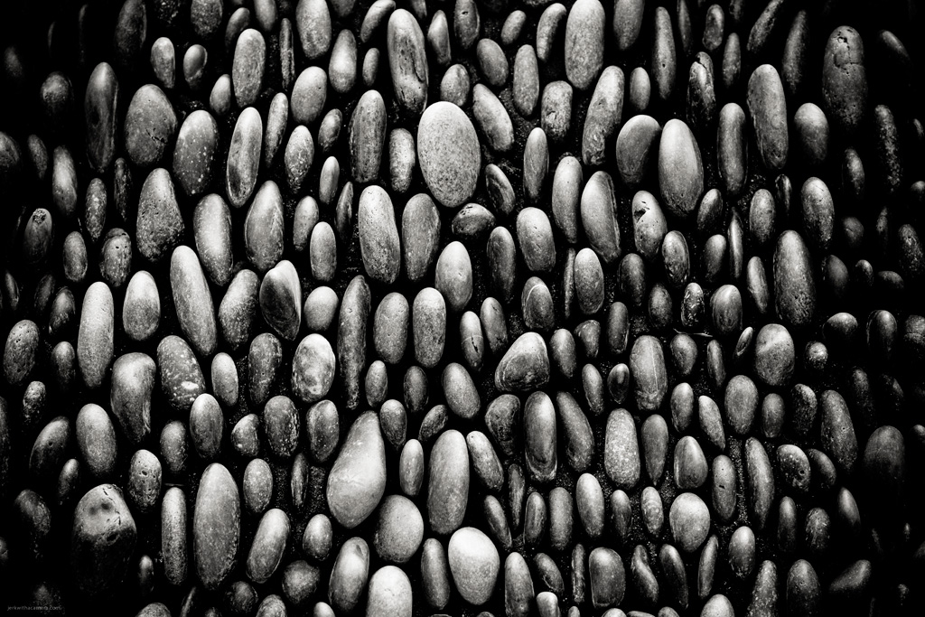 Rocks In Black & White