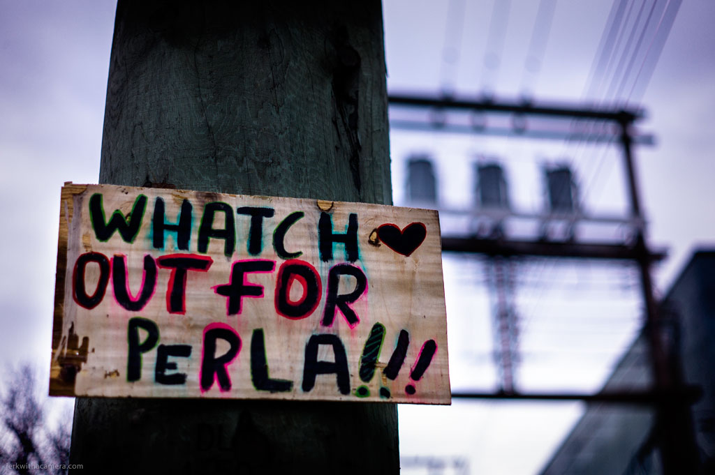 Stuff Found On Posts and Walls – Whatch Out For Perla!!!