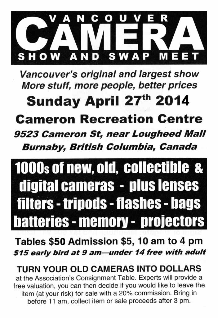 Vancouver Camera Show & Swap Meet