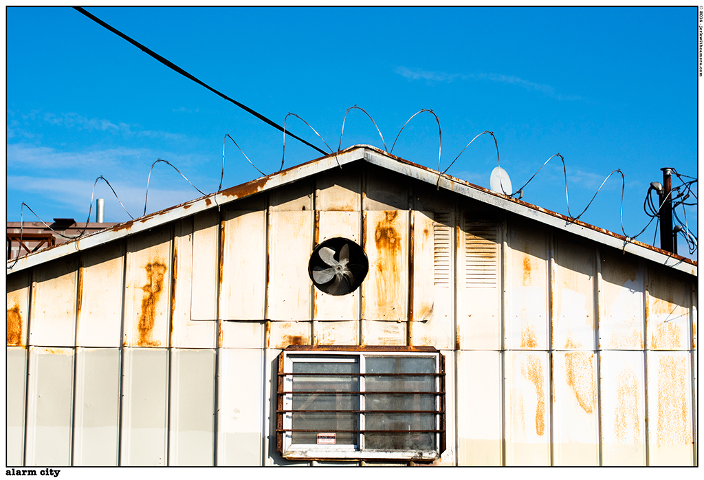 Blue Skies and Razor Wire In Railtown