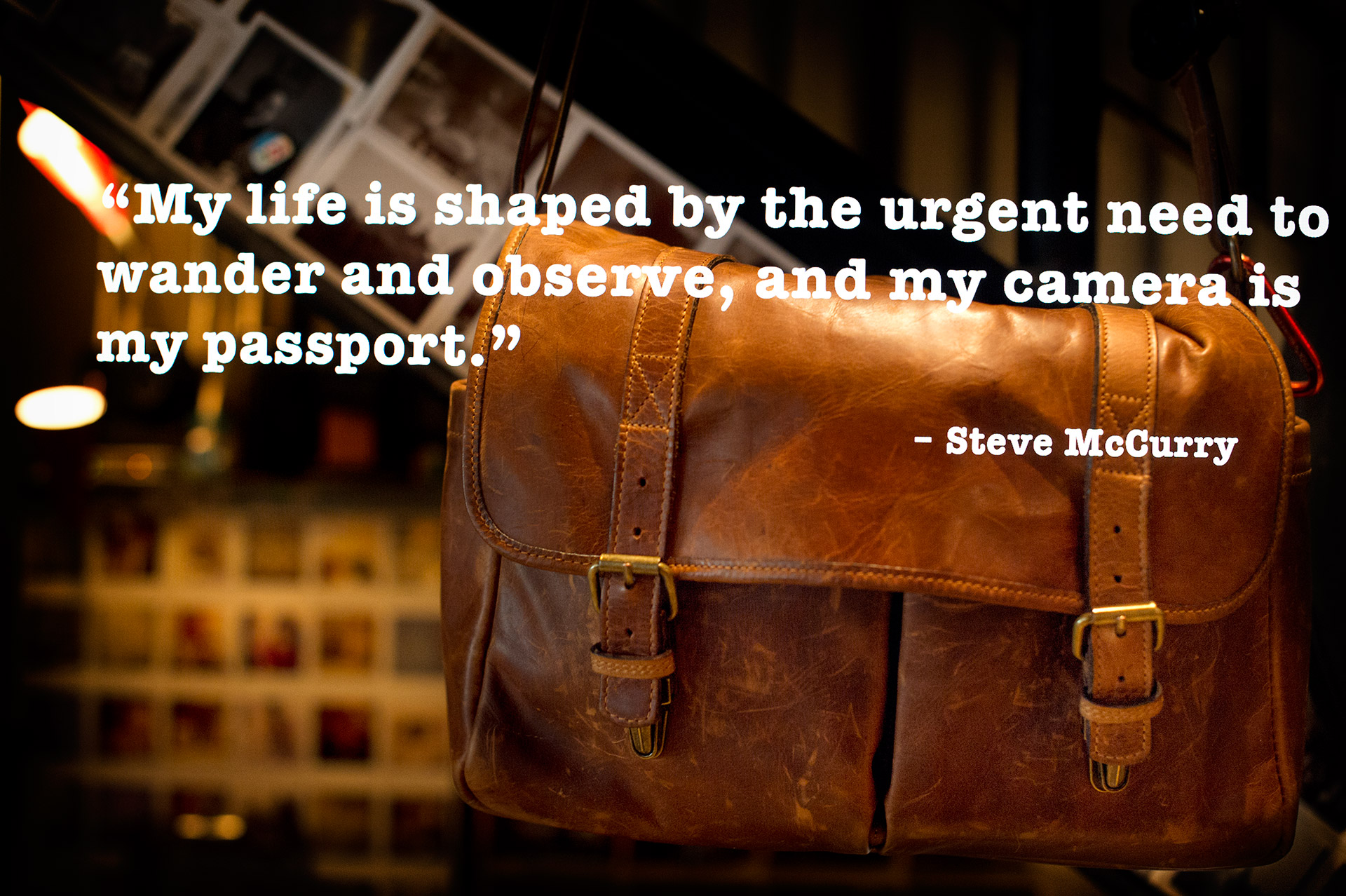 Multiple Exposure Camera Quote – Steve McCurry