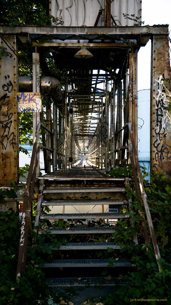 Scouting under the Iron Workers Bridge