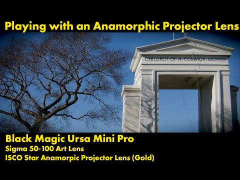 Black Magic UrsaMini Pro + Sigma 50-100 Art Lens + ICSO Star Anamorphic Projector Lens