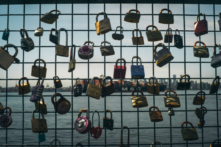 Love Locks at Lonsdale Quay